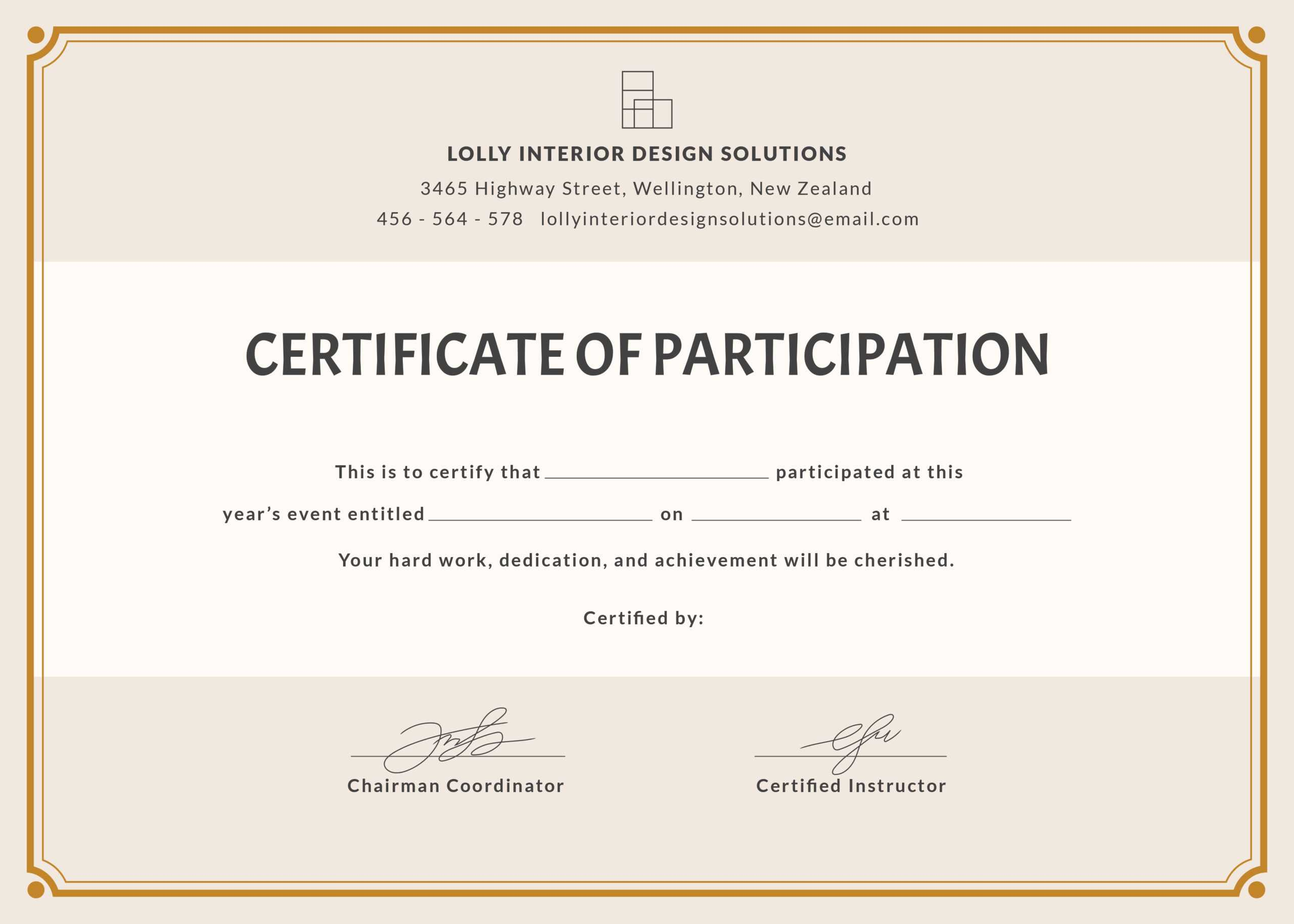 Format For Certificate Of Participation - Falep.midnightpig.co For Certificate Of Participation Word Template