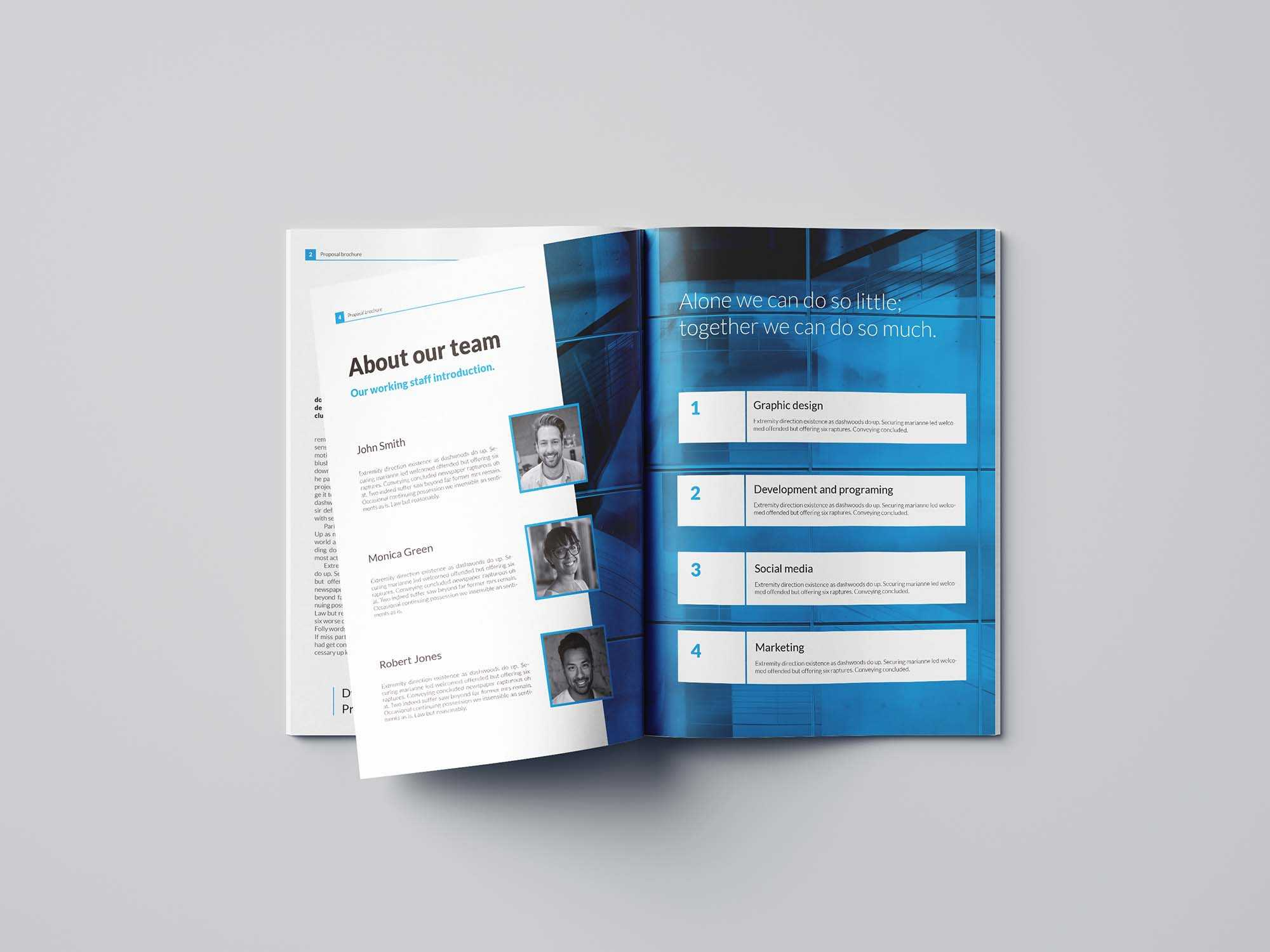 Free Business Proposal Template (Indesign) With Brochure Templates Free Download Indesign