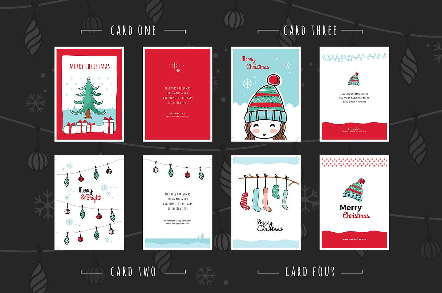 Free Christmas Card Templates For Photoshop & Illustrator For Adobe Illustrator Christmas Card Template