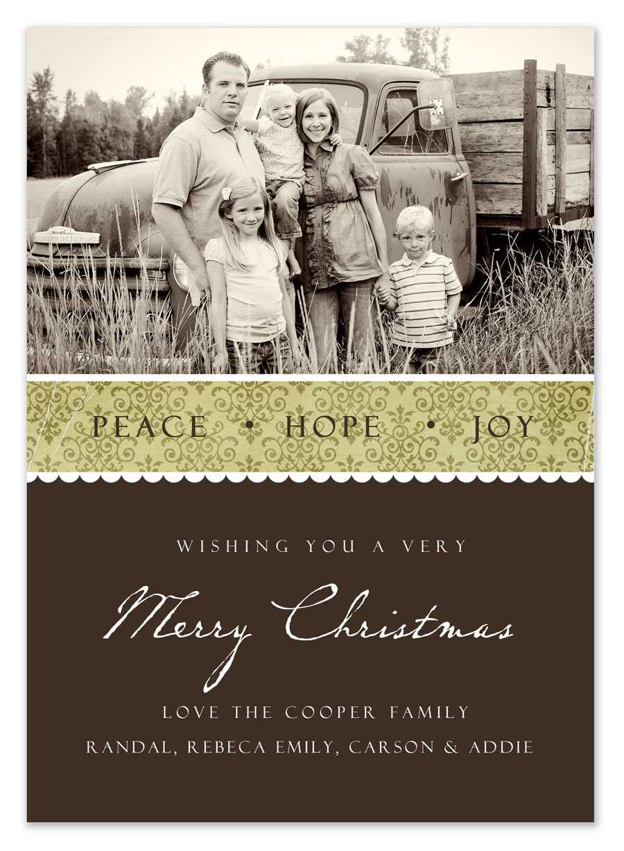 Free Christmas Card Templates In Free Christmas Card Templates For Photographers