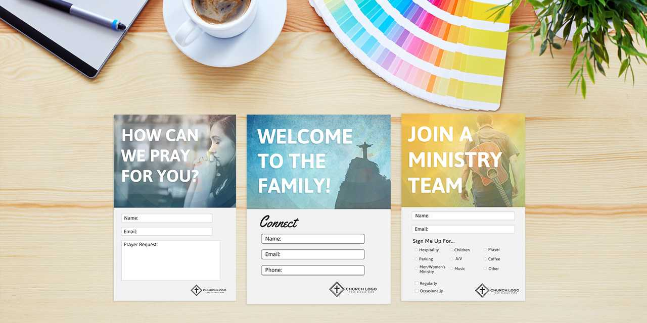 Free Church Connection Cards - Beautiful Psd Templates With Decision Card Template