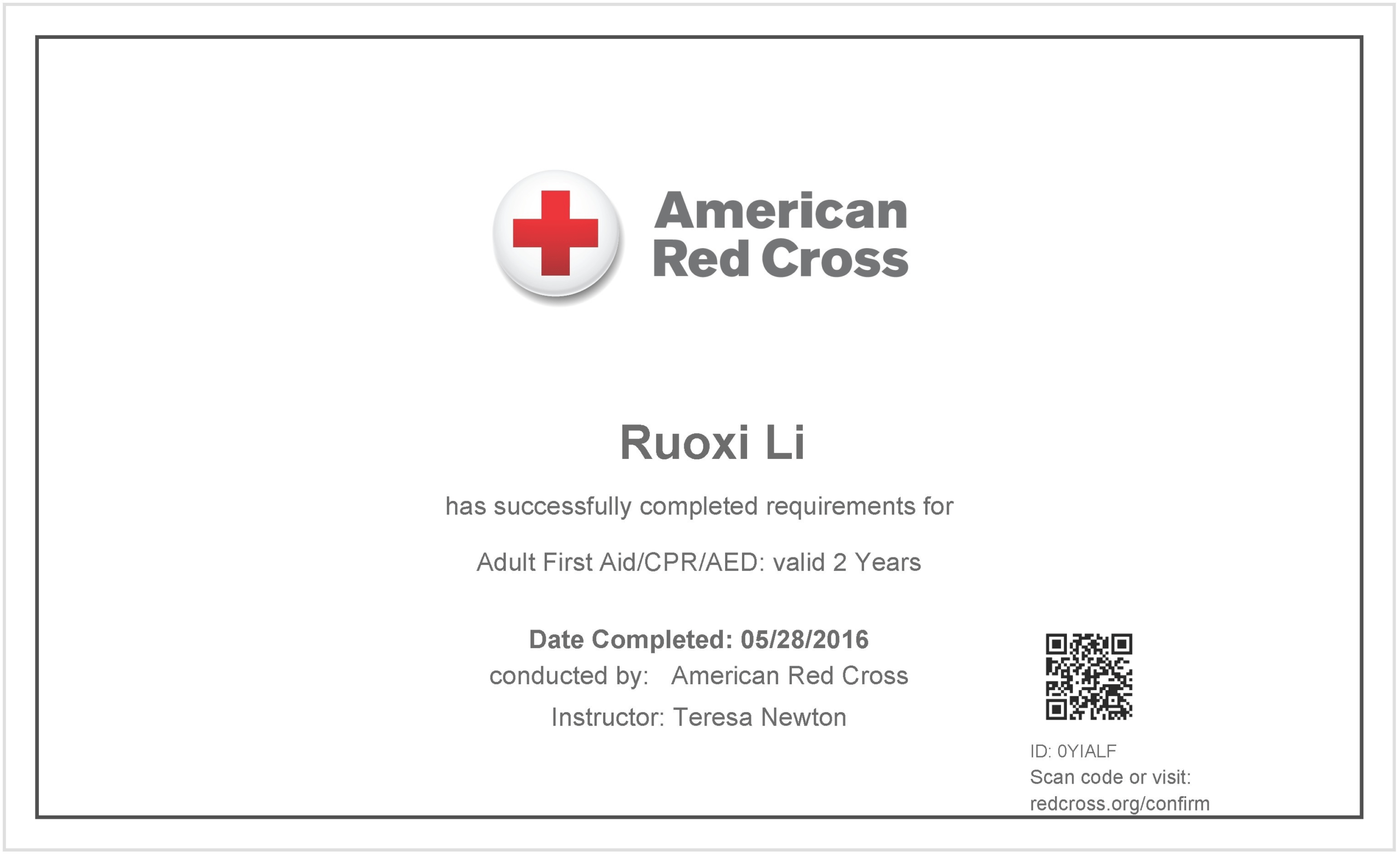 Free Cpr Certification Card First Aid Course Certificate With Regard To Cpr Card Template