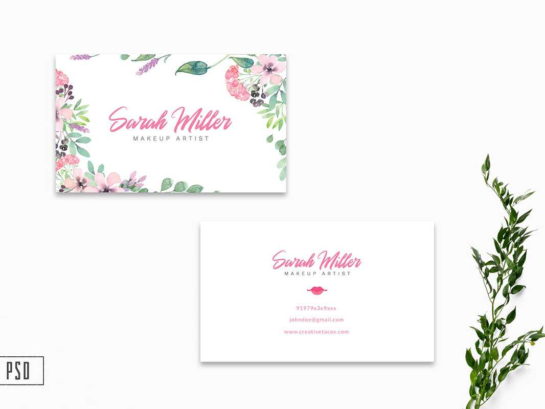 Free Floral Business Card Template V2Farhan Ahmad On Throughout Free Editable Printable Business Card Templates