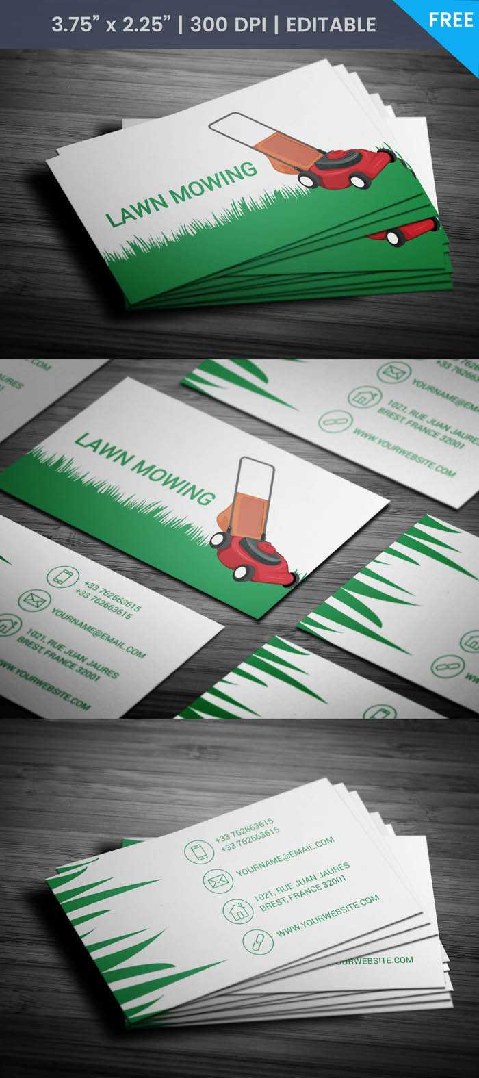 Free Lawn Care Business Card With Regard To Lawn Care Business Cards Templates Free