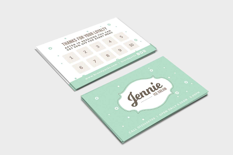 Free Loyalty Card Templates – Psd, Ai & Vector – Brandpacks Within Customer Loyalty Card Template Free