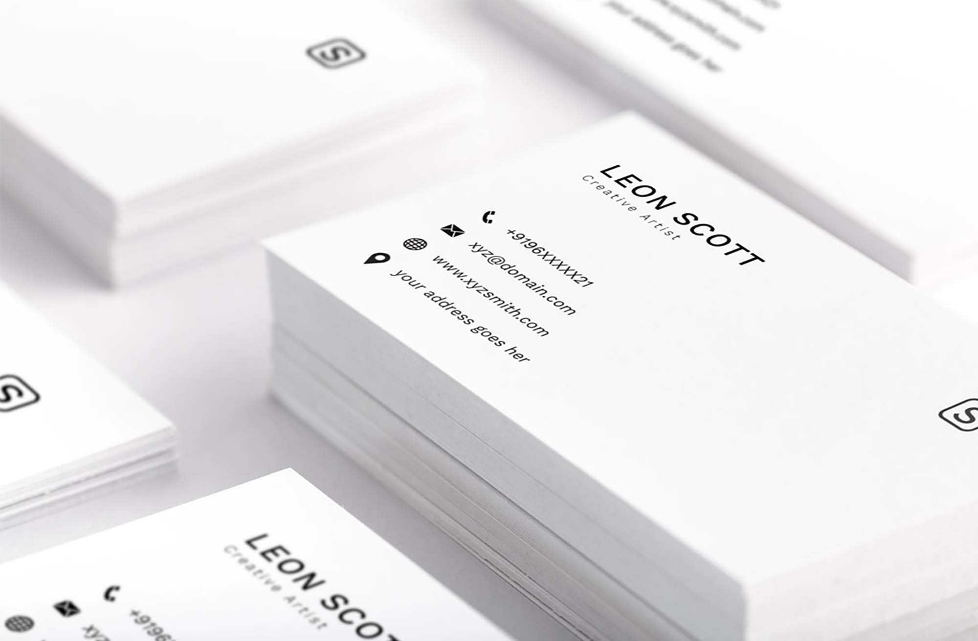 Free Minimal Elegant Business Card Template (Psd) Intended For Free Bussiness Card Template