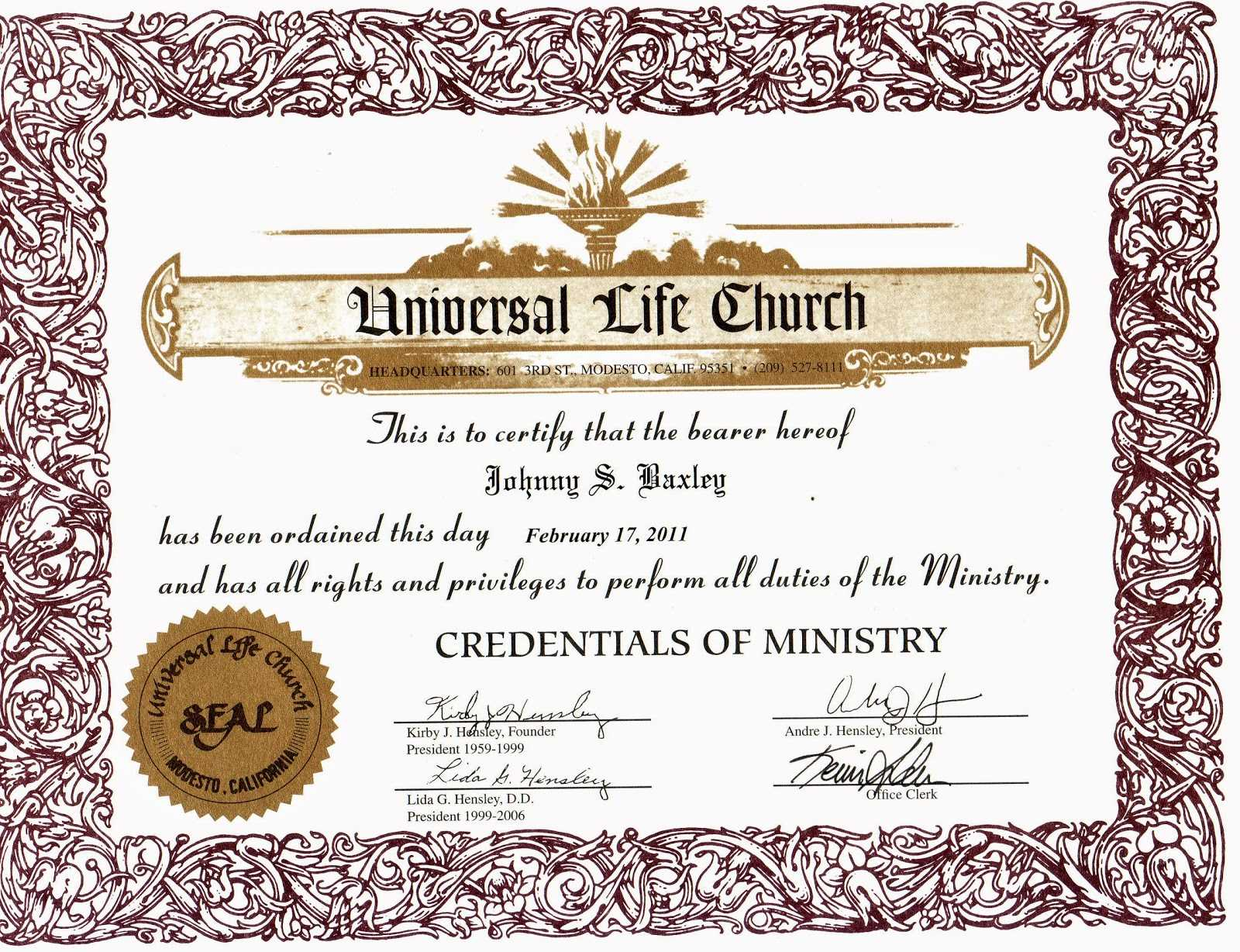 Free Ordination Certificate Download - Calep.midnightpig.co Regarding Free Ordination Certificate Template