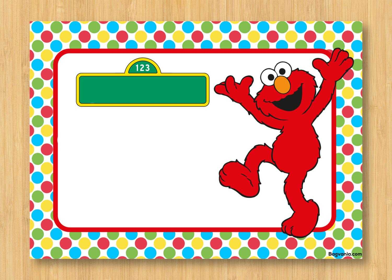 Free Printable Elmo Birthday Invitations – Bagvania Intended For Elmo Birthday Card Template