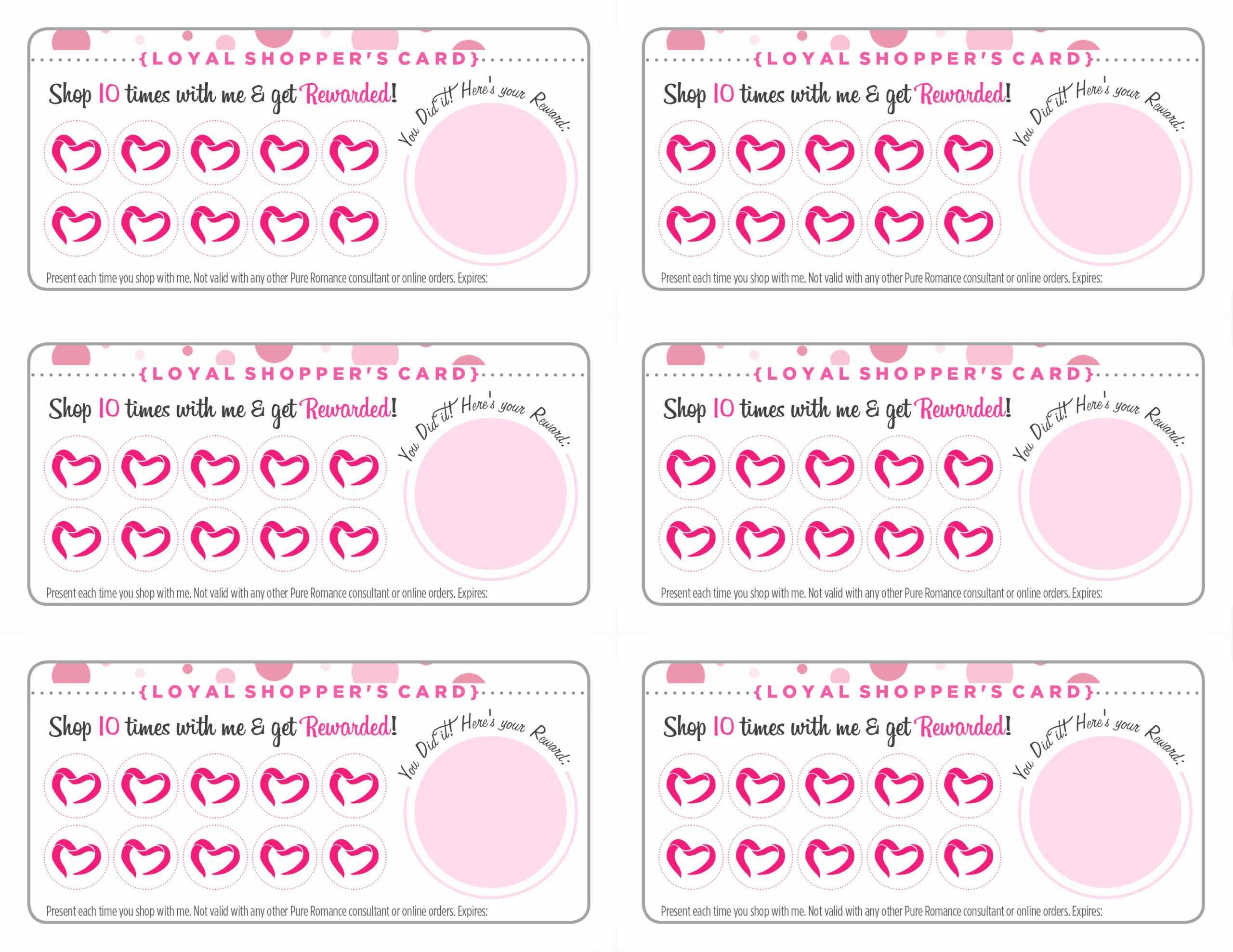 Free Printable Loyalty Card Template – Calep.midnightpig.co In Customer Loyalty Card Template Free