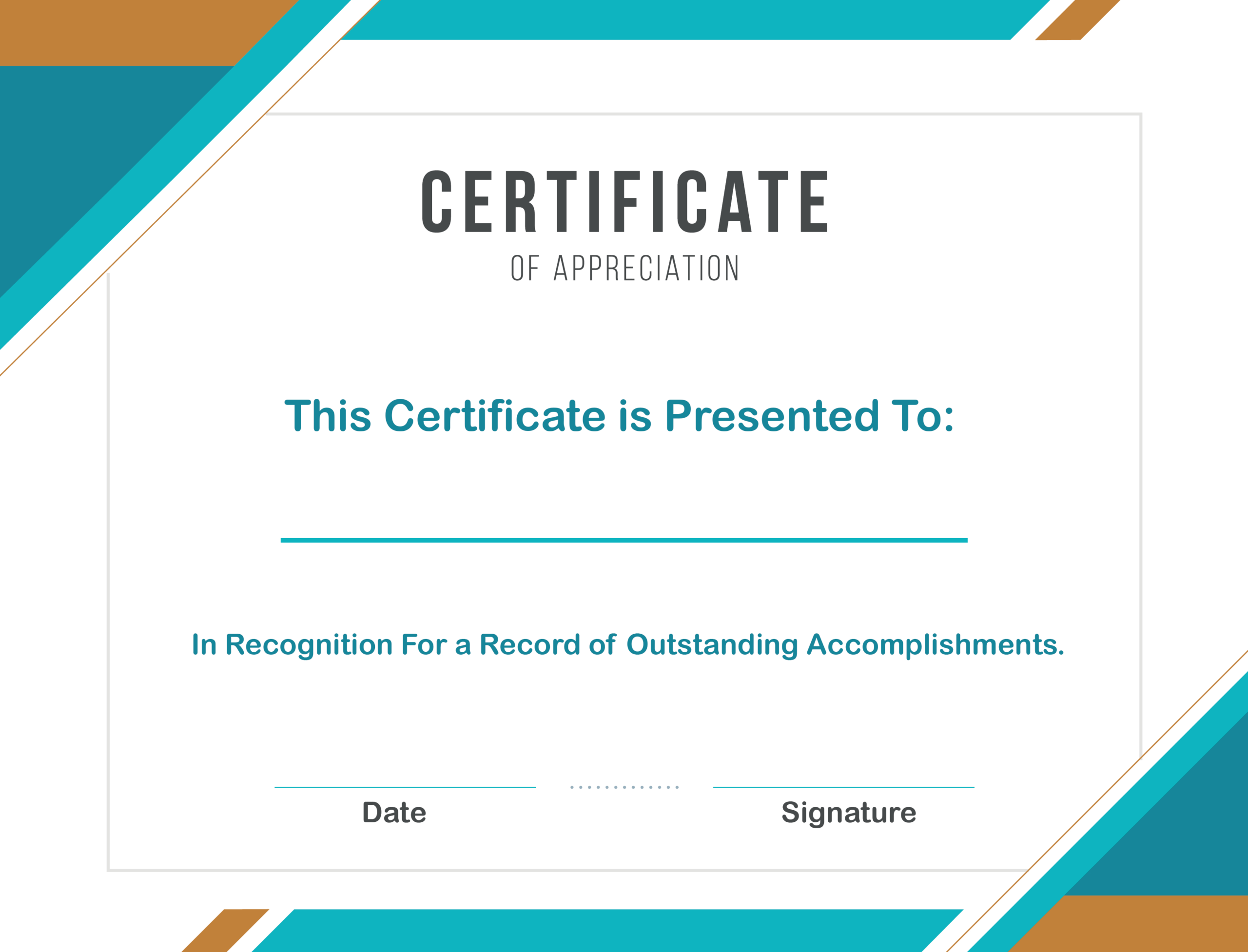 Free Sample Format Of Certificate Of Appreciation Template For In Appreciation Certificate Templates