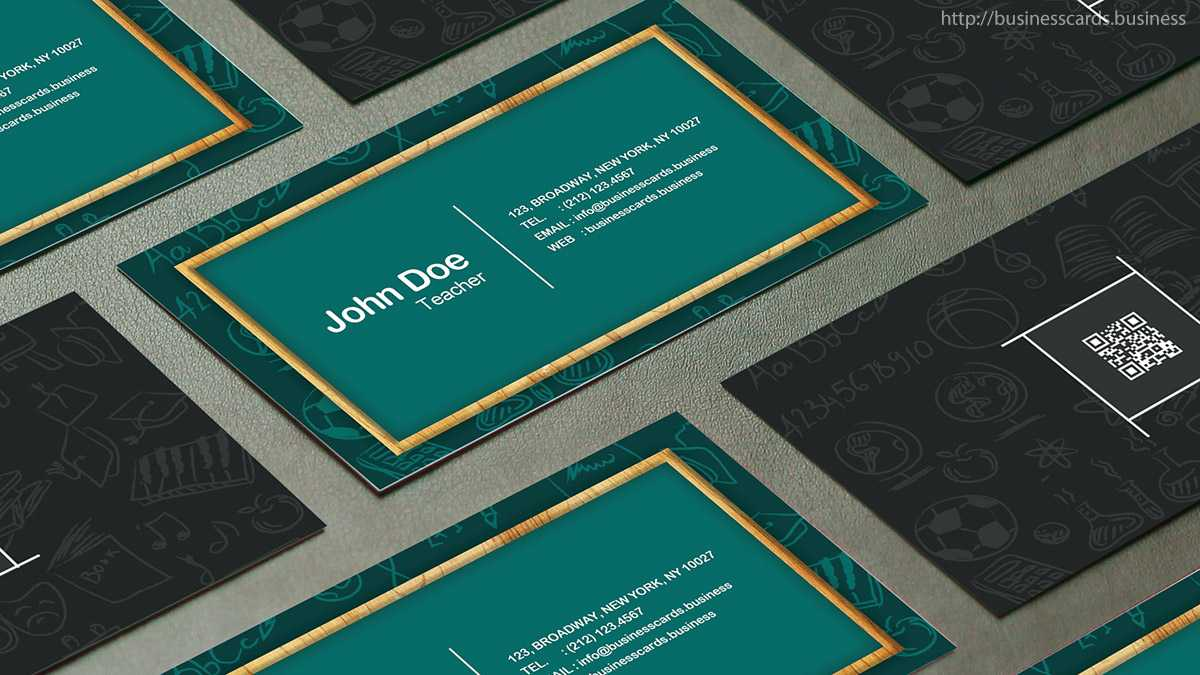 Free Teacher Business Card Template : Business Cards Templates Within Business Cards For Teachers Templates Free
