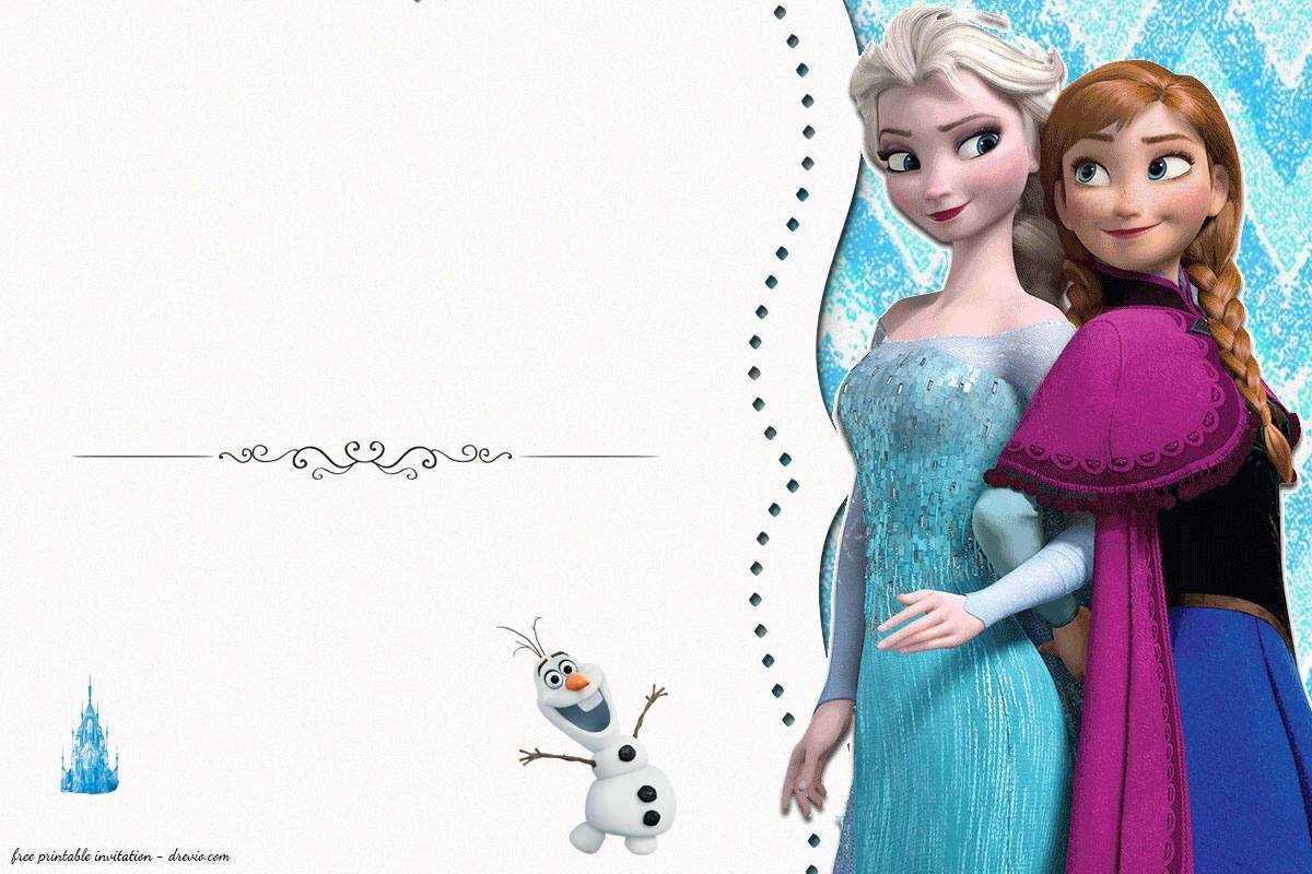 Frozen Birthday Card Template - Calep.midnightpig.co Within Frozen Birthday Card Template