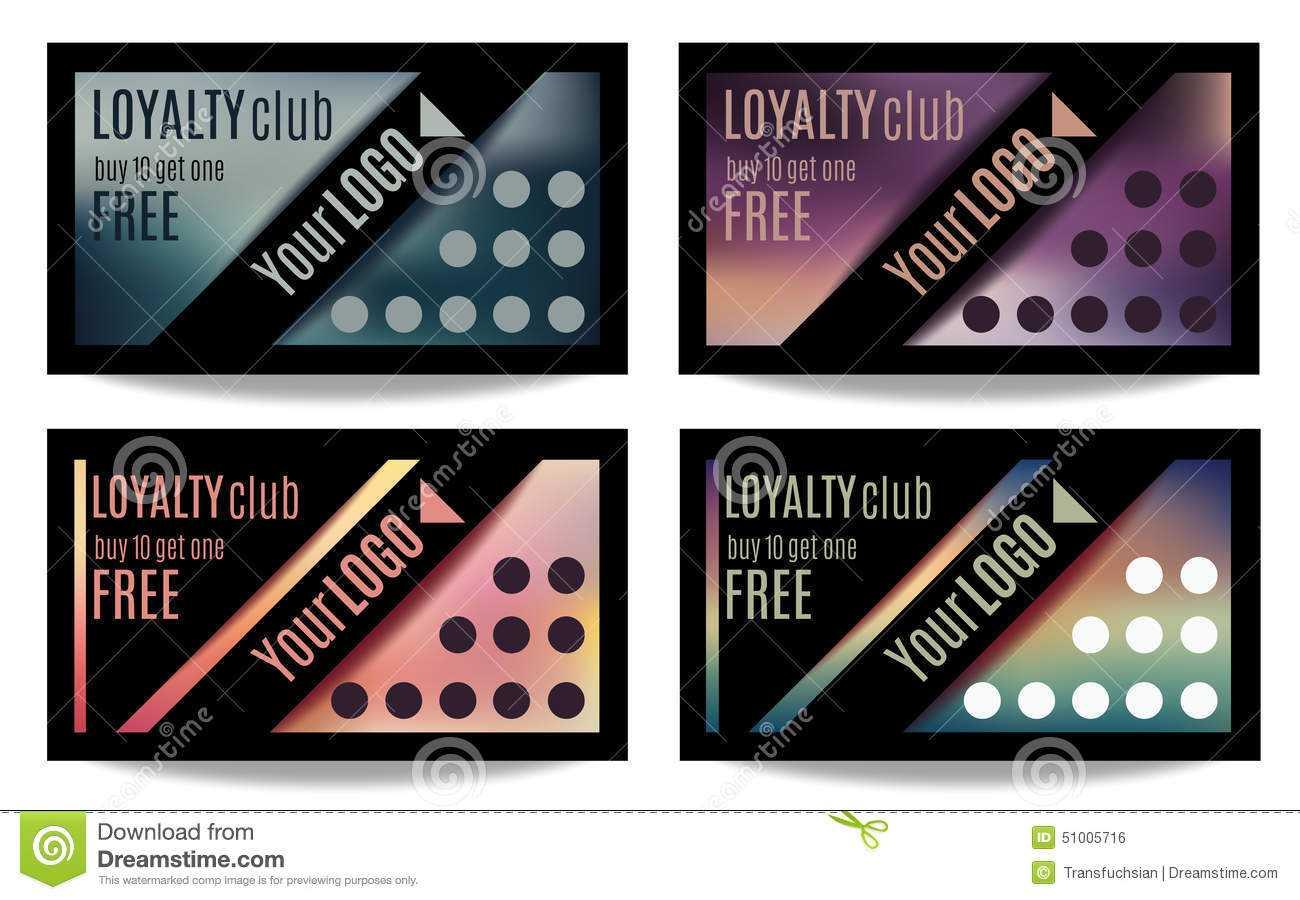 Fun Customer Loyalty Card Templates Stock Vector Regarding Customer Loyalty Card Template Free