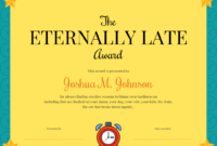 Funny Certificate Template pertaining to Fun Certificate Templates