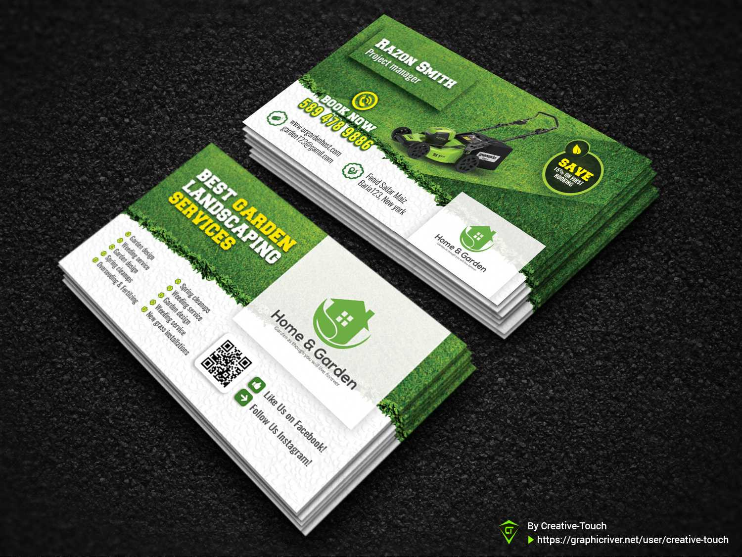 Garden Business Cardcreative Touch On Dribbble Regarding Gardening Business Cards Templates