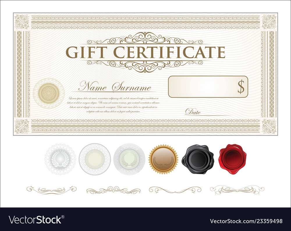 Gift Certificate Retro Vintage Template Throughout Movie Gift Certificate Template