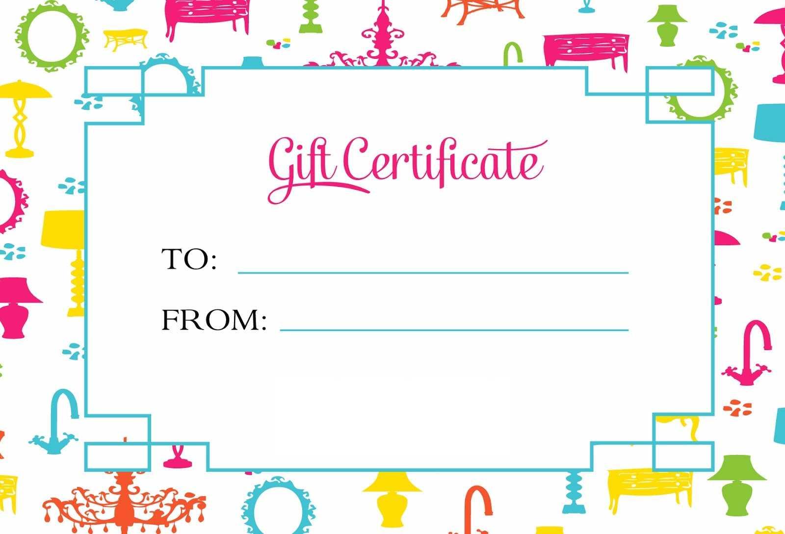 Gift Certificate Template For Kids Blanks | Loving Printable Regarding Fun Certificate Templates