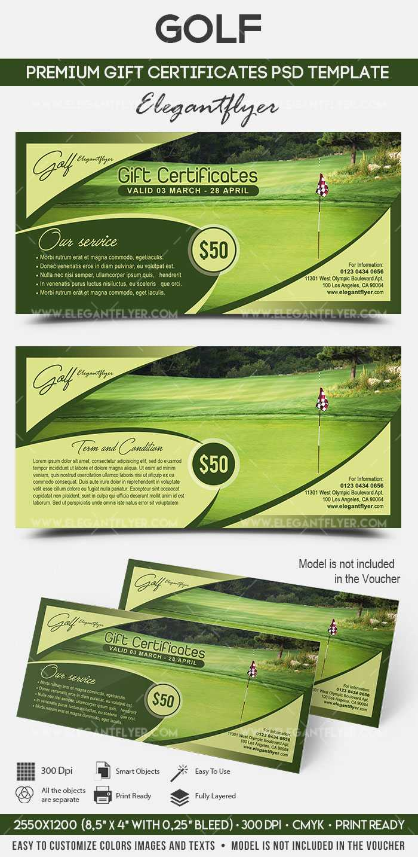 Golf – Premium Gift Certificate Psd Template With Regard To Golf Gift Certificate Template