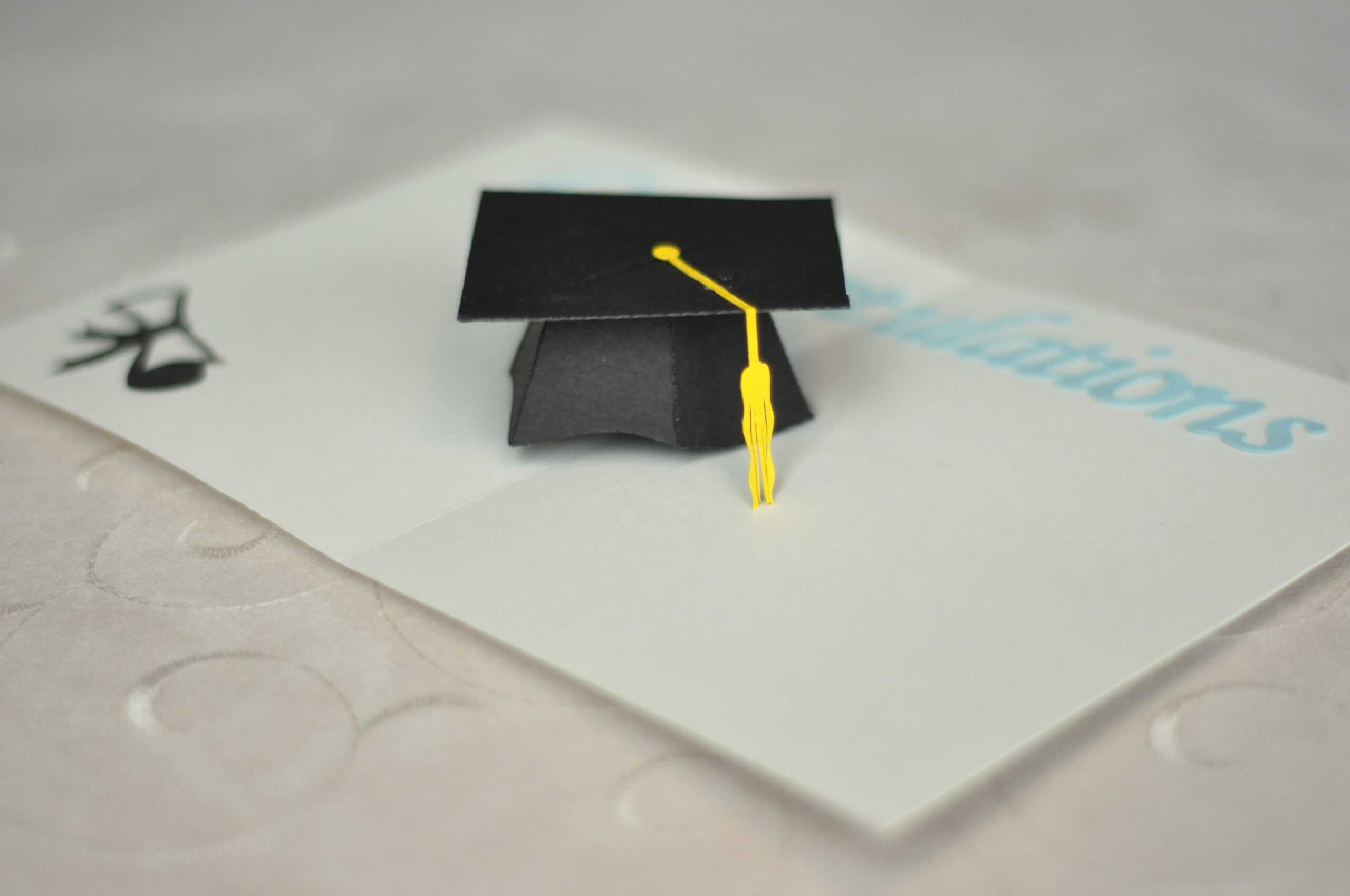 Graduation Pop Up Card: 3D Cap Tutorial - Creative Pop Up Cards Within Graduation Pop Up Card Template