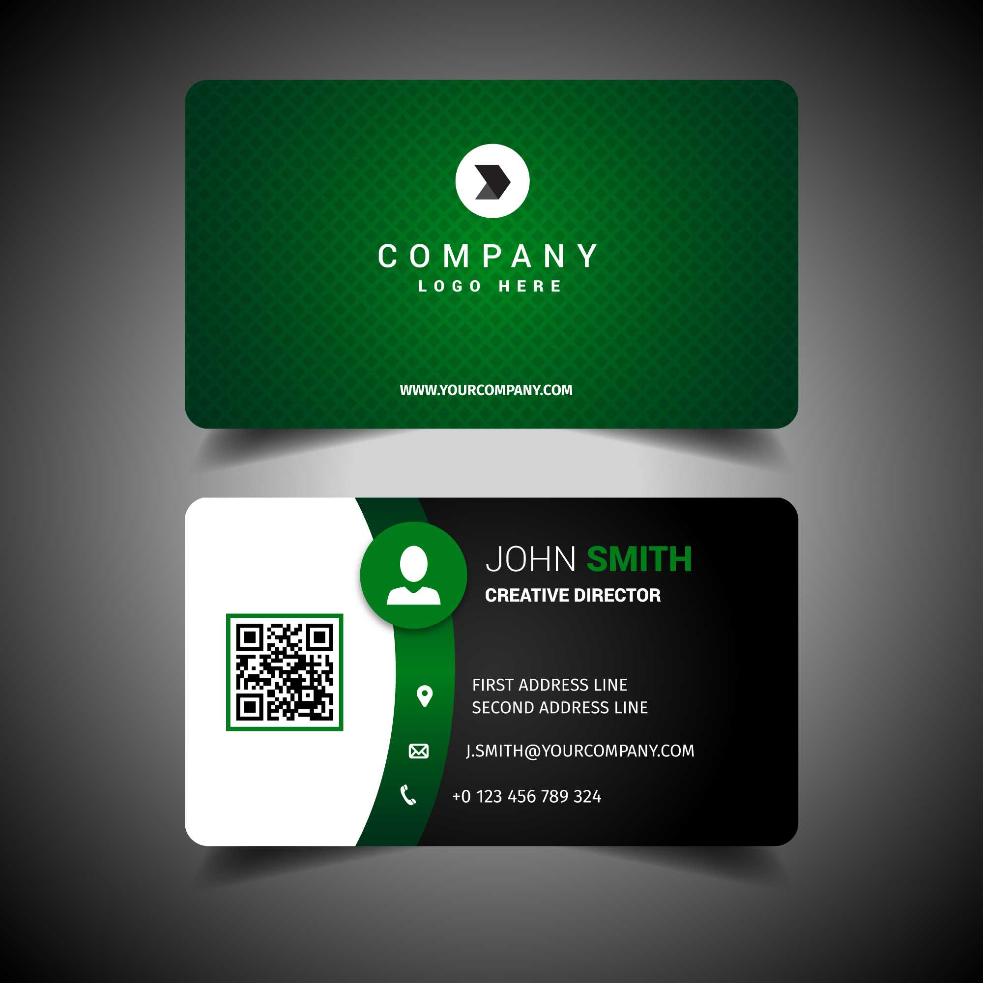 Green Business Card Free Vector Art - (2,199 Free Downloads) Within Calling Card Free Template