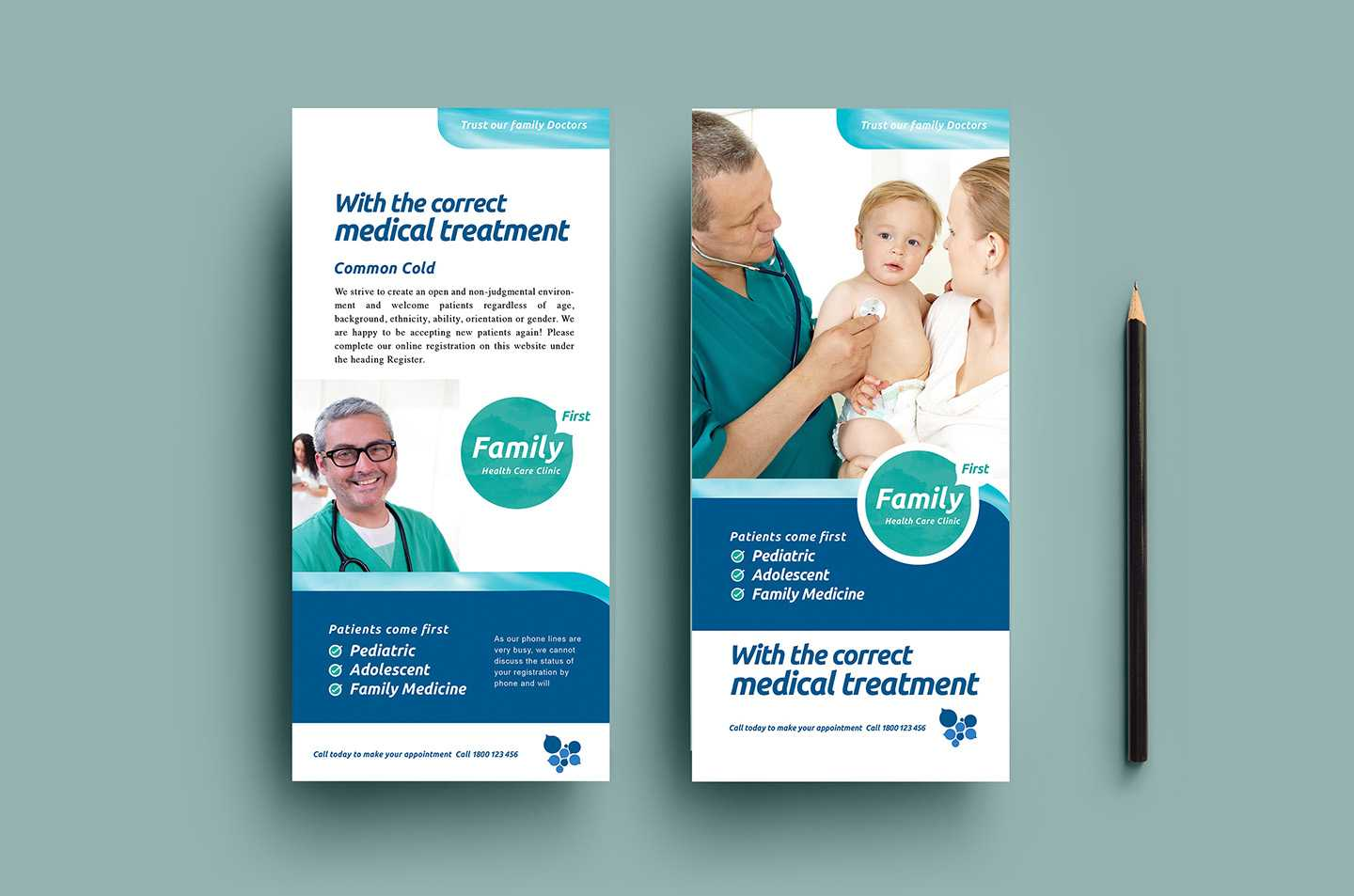 Healthcare Clinic Dl Card Template In Psd, Ai & Vector Intended For Dl Card Template