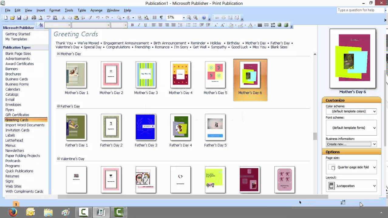 How To Create A Greeting Card With Microsoft Publisher With Regard To Birthday Card Publisher Template