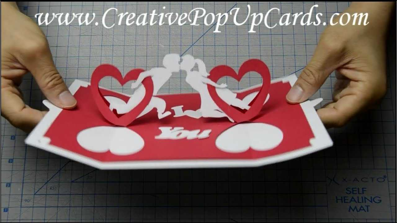 How To Make A Valentines Day Pop Up Card: Twisting Hearts Inside Twisting Hearts Pop Up Card Template