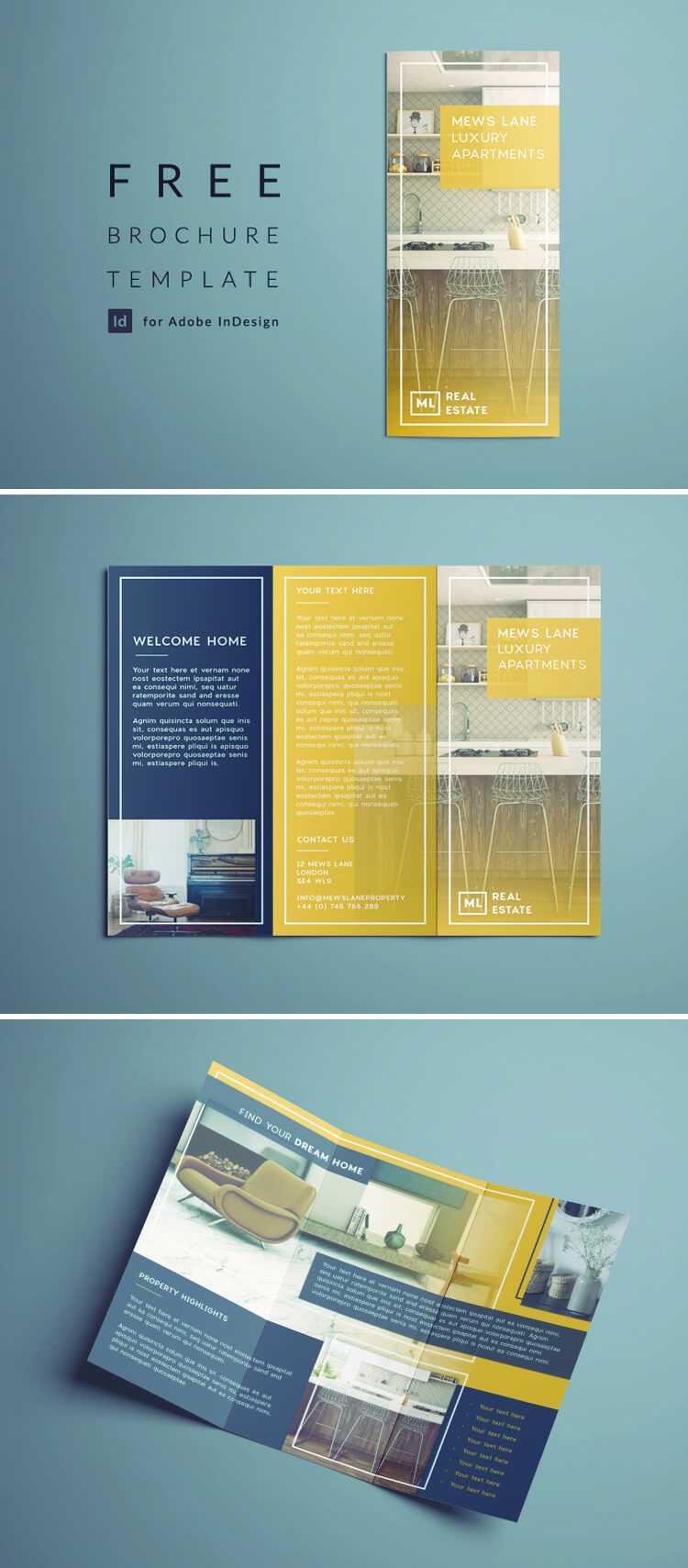 Indesign Tri Fold Brochure Templates – Falep.midnightpig.co Regarding Brochure Templates Free Download Indesign