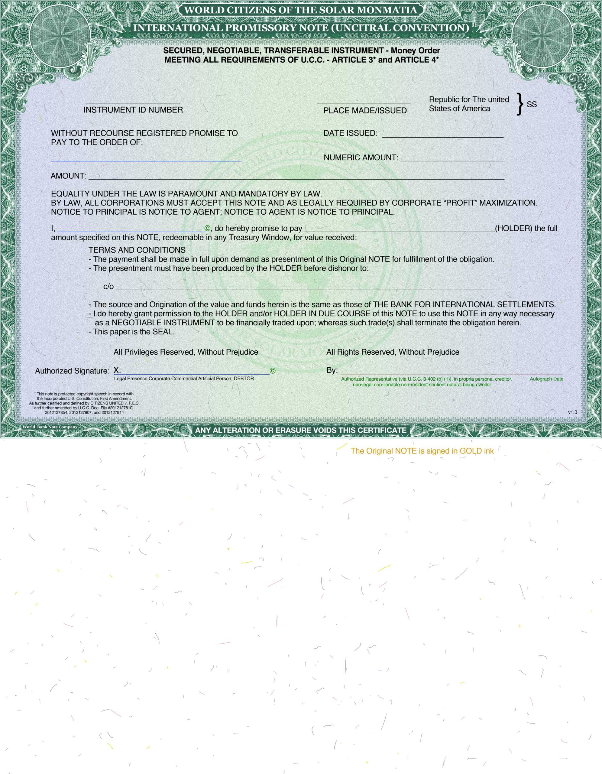 Issuing Our Own American National Private Bonds Negotiable In Corporate Bond Certificate Template