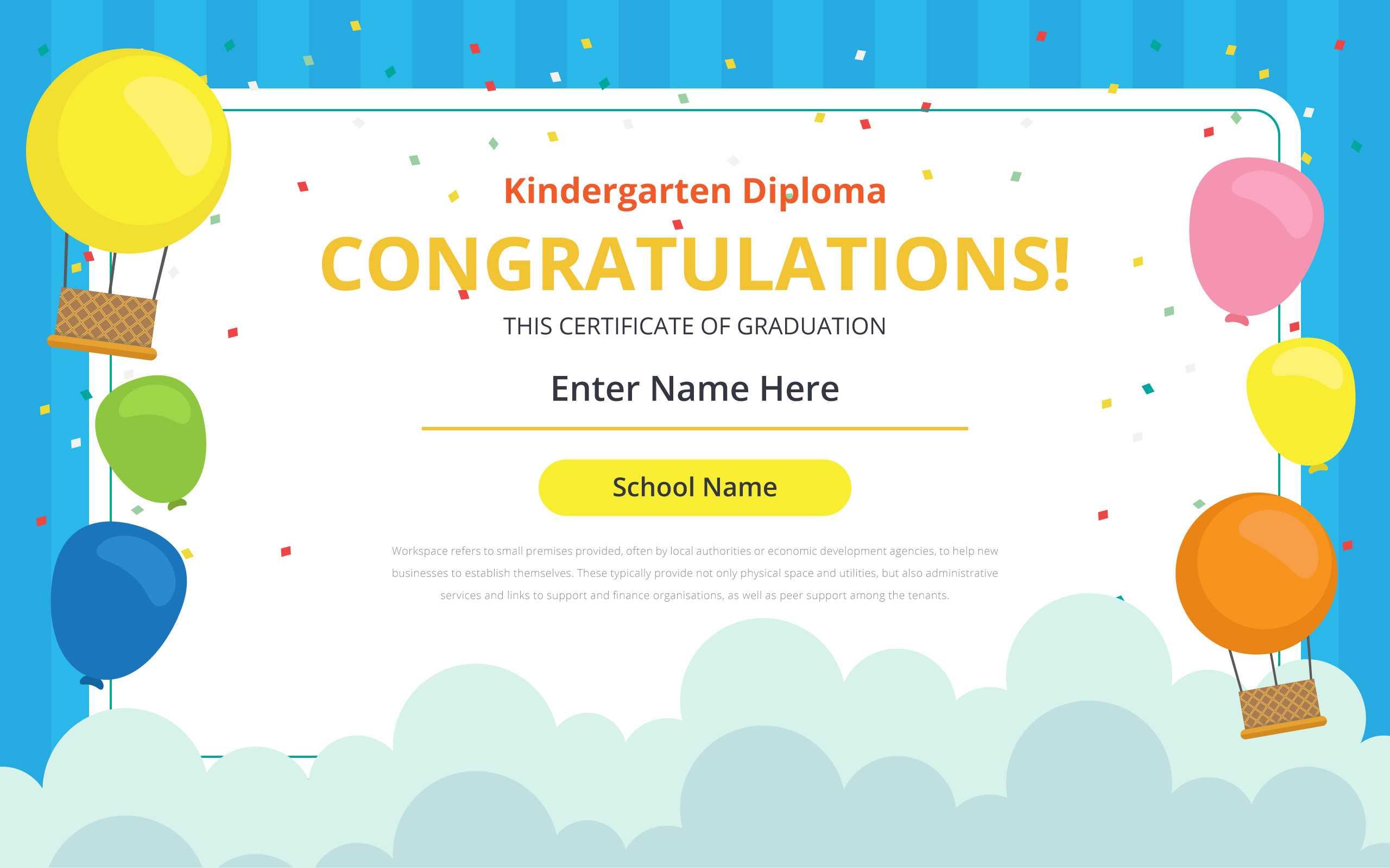 Kindergarten Certificate Free Vector Art – (29 Free Downloads) Pertaining To Fun Certificate Templates