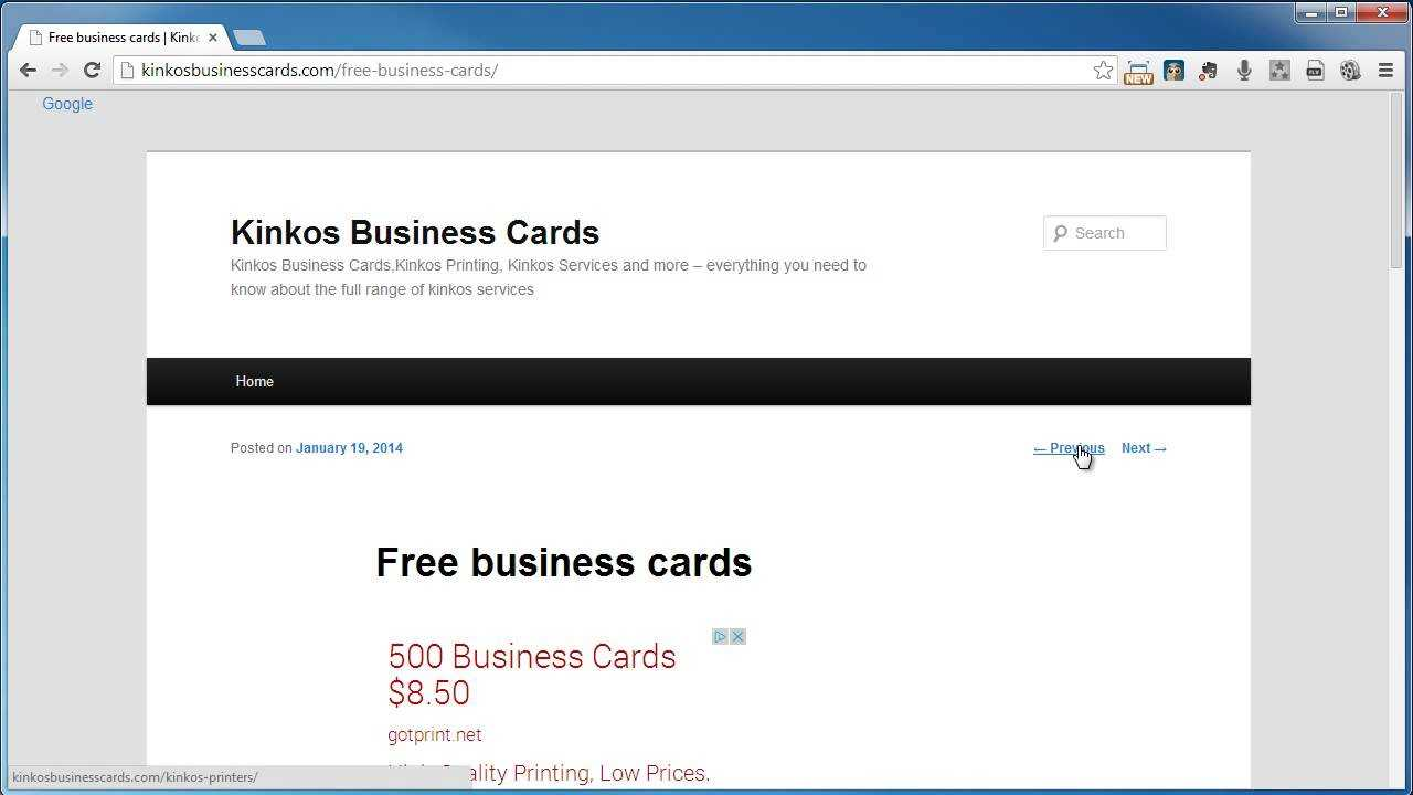 Kinkos Business Cards Throughout Kinkos Business Card Template
