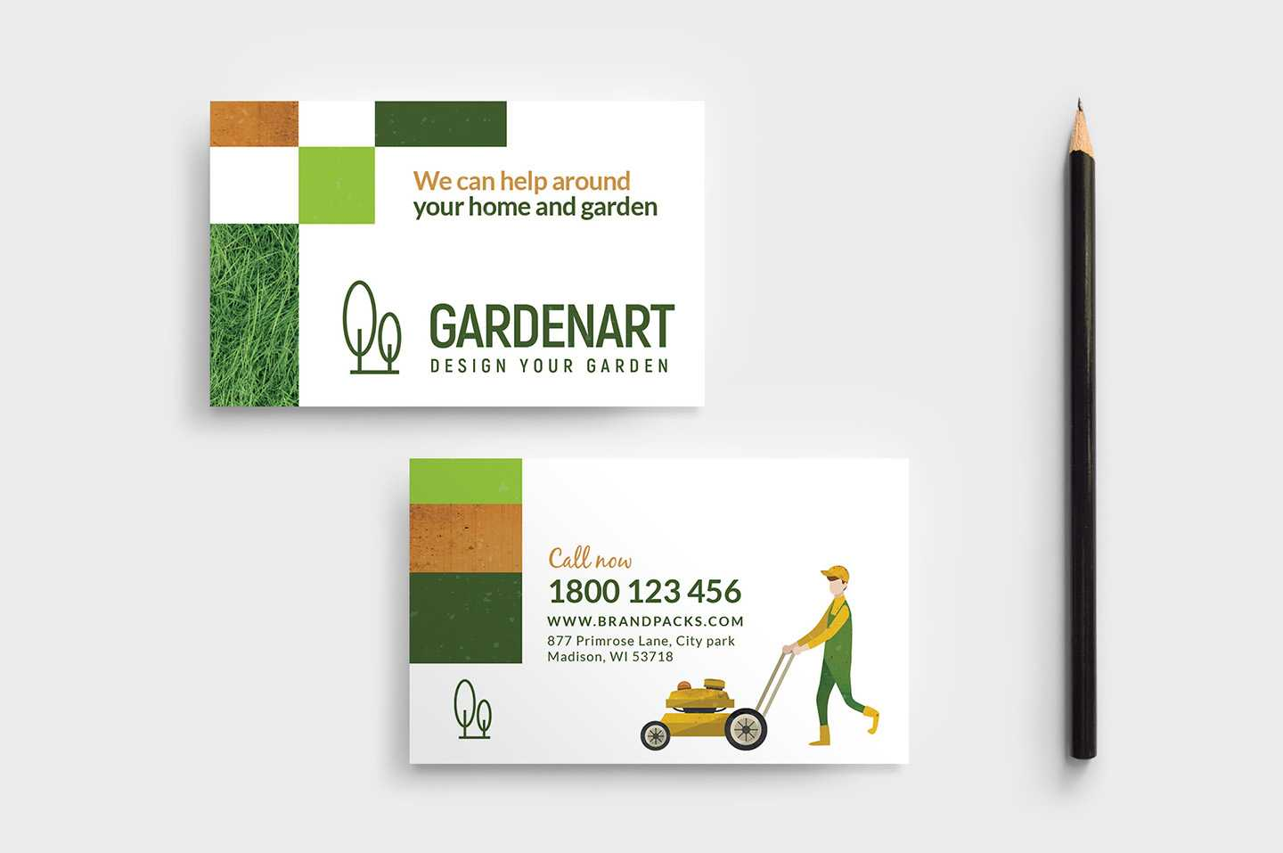 Landscaper Business Card Template – Psd, Ai & Vector With Gardening Business Cards Templates