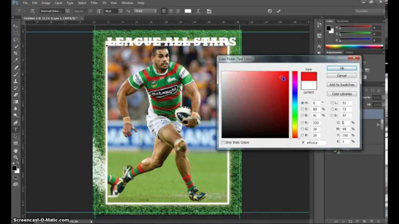 Make A Trading Card In Adobe Photoshop – Part 1 Pertaining To Baseball Card Template Psd