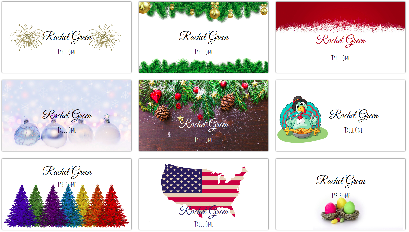 Making Your Own Holiday Place Cards At Home | Place Card Me Throughout Christmas Table Place Cards Template