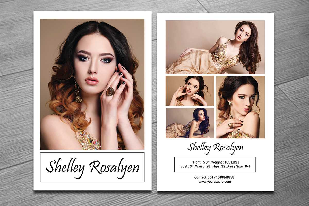 Modeling Comp Card Template On Behance Pertaining To Zed Card Template