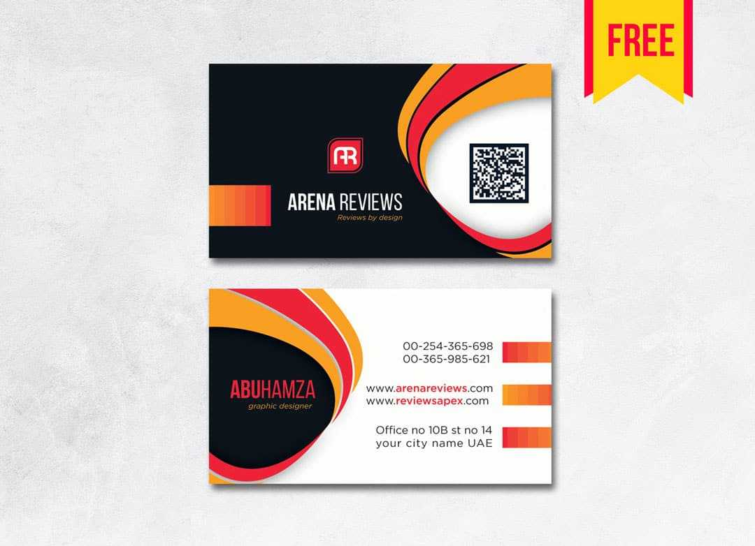 Modern Professional Business Card - Free Download | Arenareviews Regarding Professional Business Card Templates Free Download