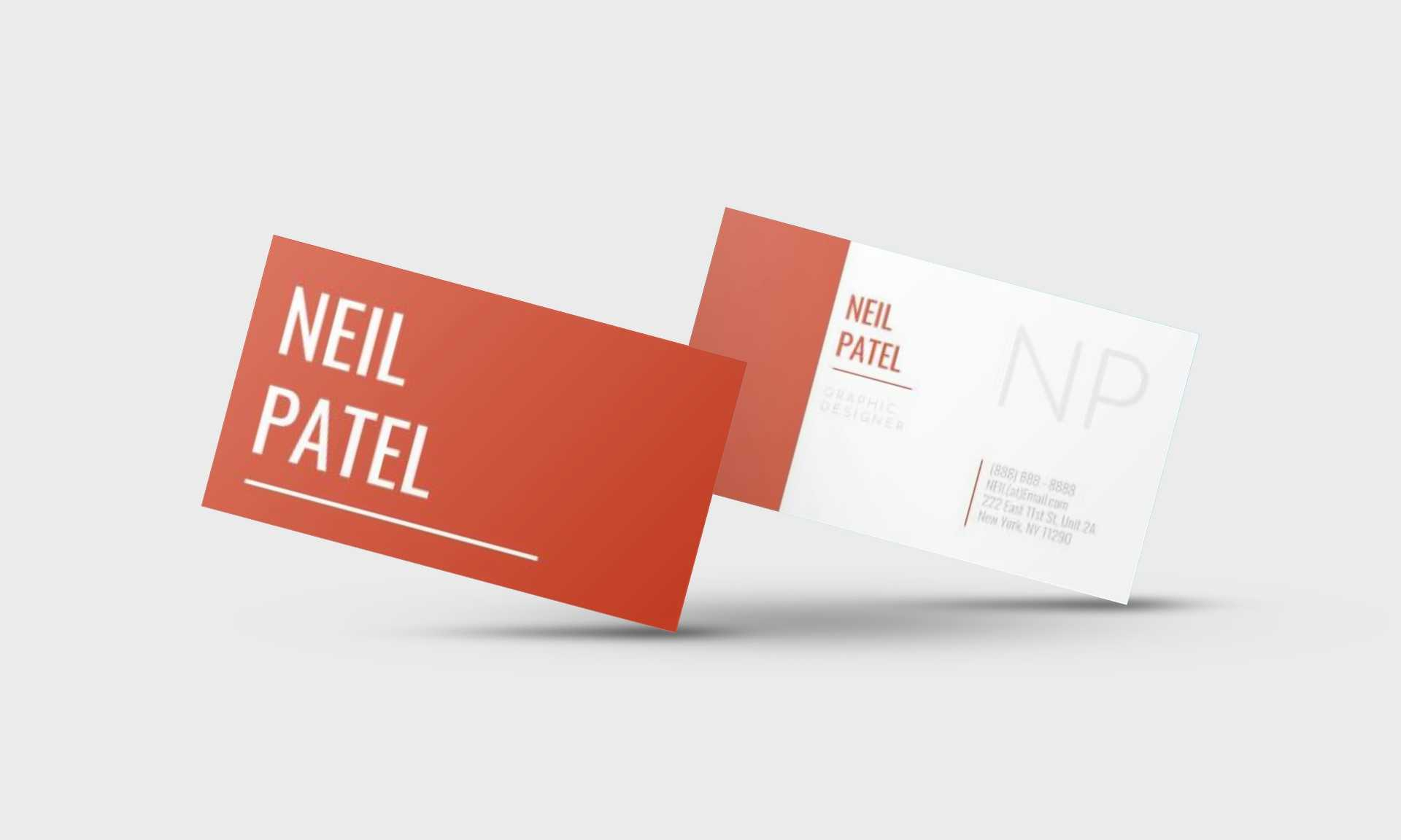 Neil Patel Google Docs Business Card Template - Stand Out Shop Pertaining To Business Card Template For Google Docs