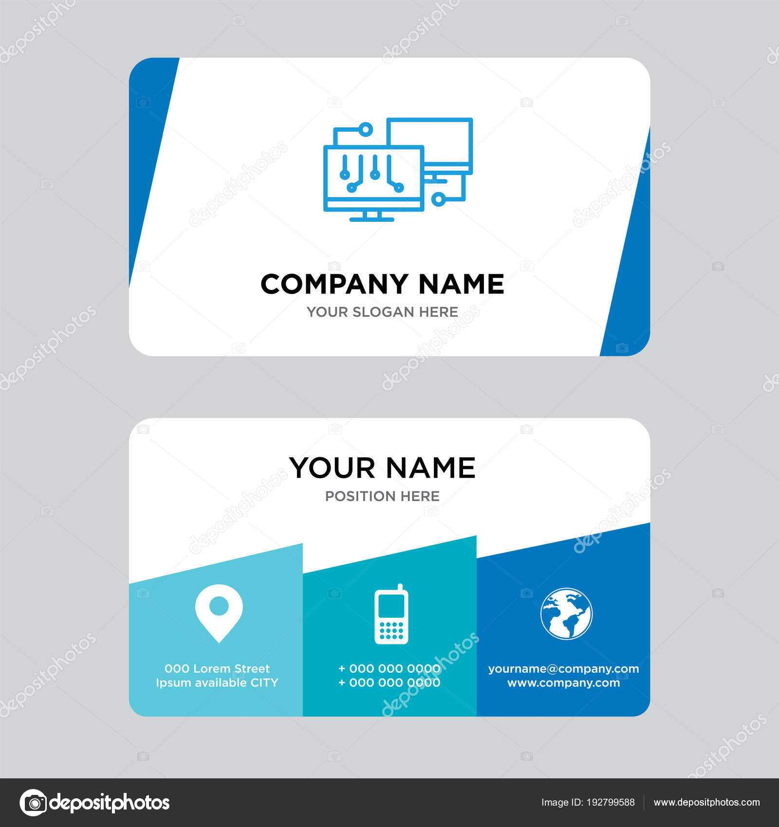 Network Business Card Design Template — Stock Vector Intended For Networking Card Template