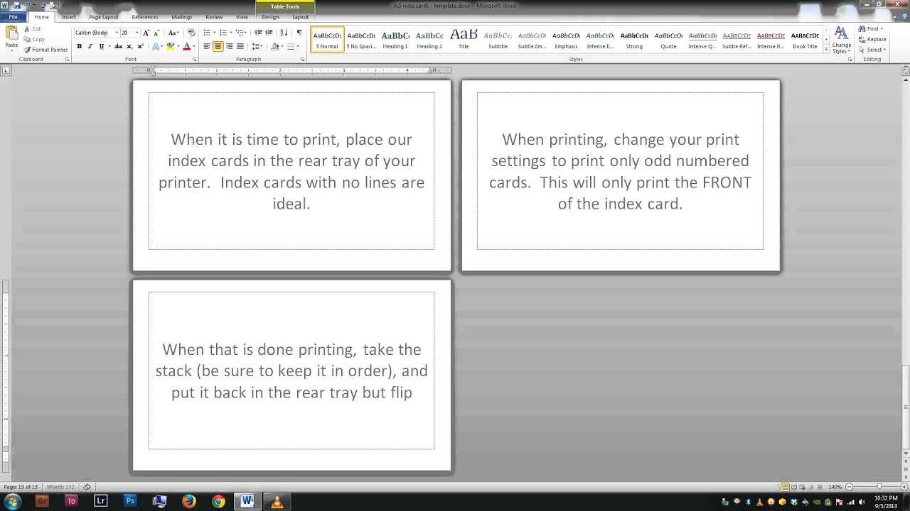 Note/index Cards - Word Template Throughout Word Template For 3X5 Index Cards