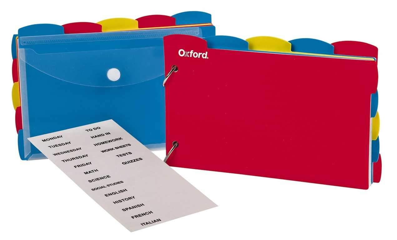 """Oxford Just Flip It Note Card Organizer, 4""""x 6"""", Assorted, 12 Pk/ct Throughout 4X6 Note Card Template"""