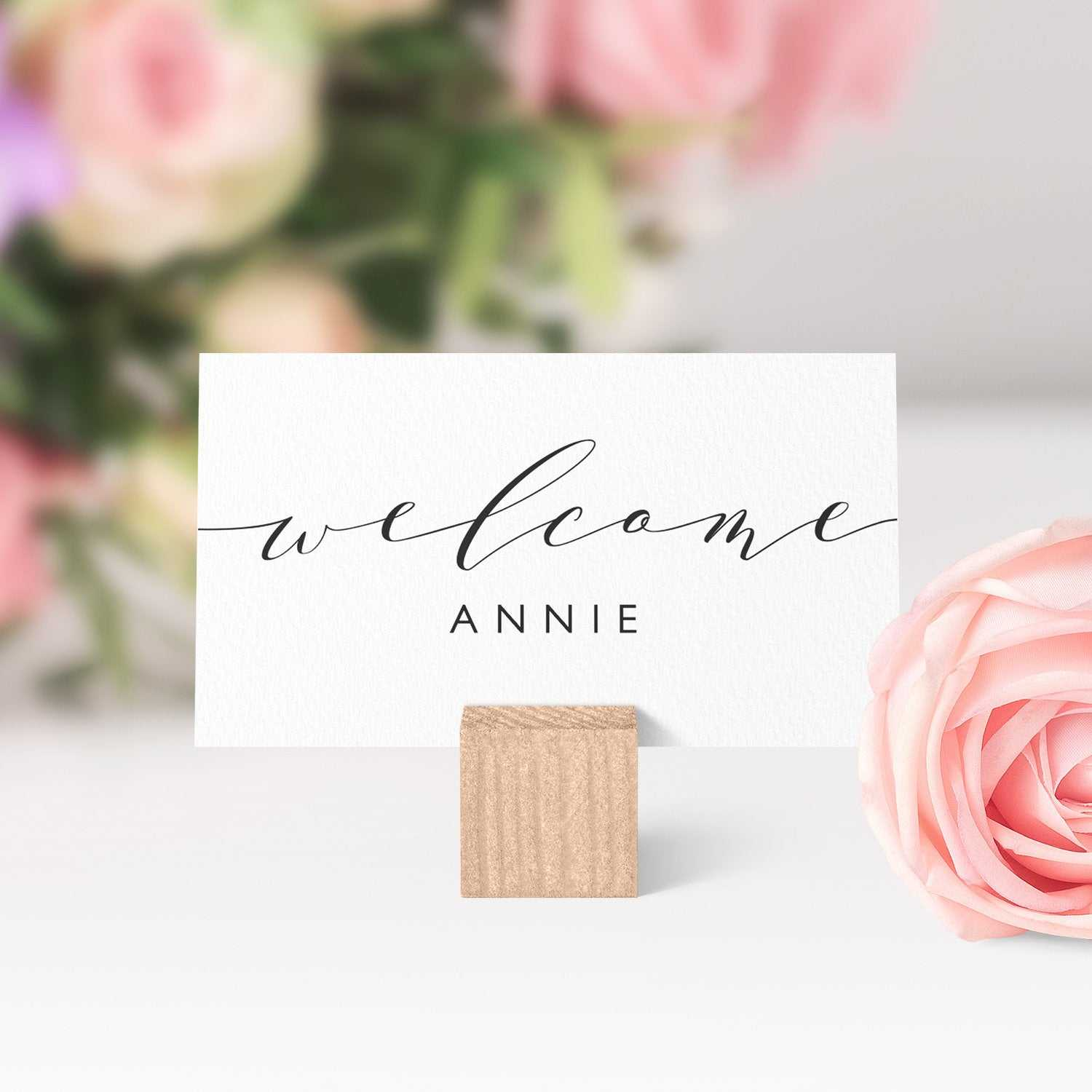 Place Cards Printable Template, Flat And Folded Welcome Regarding Place Card Setting Template
