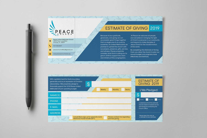 Pledge Card Design – Falep.midnightpig.co With Regard To Free Pledge Card Template