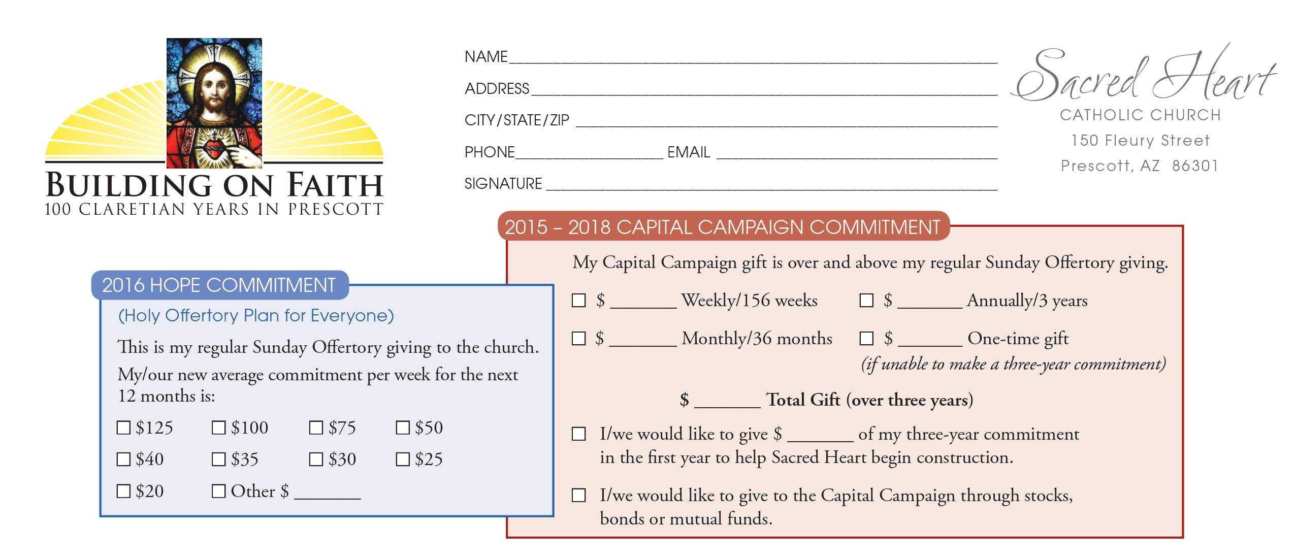 Pledge Card Examples – Calep.midnightpig.co Intended For Free Pledge Card Template