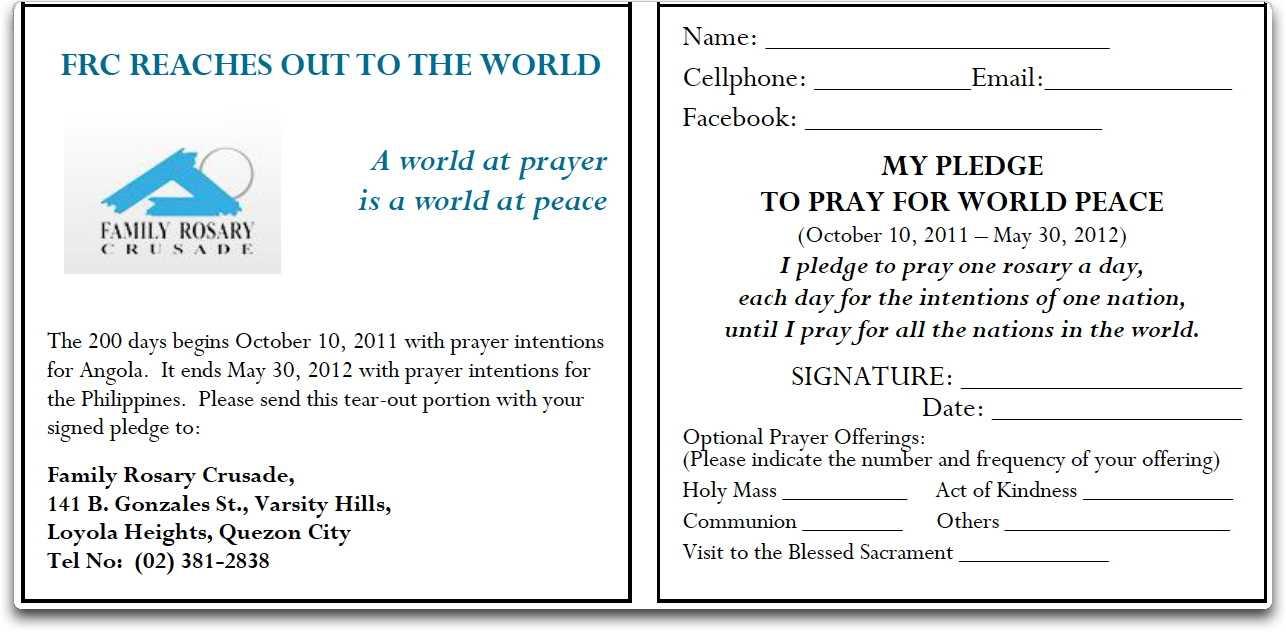 Pledge Form Sample – Calep.midnightpig.co Pertaining To Free Pledge Card Template