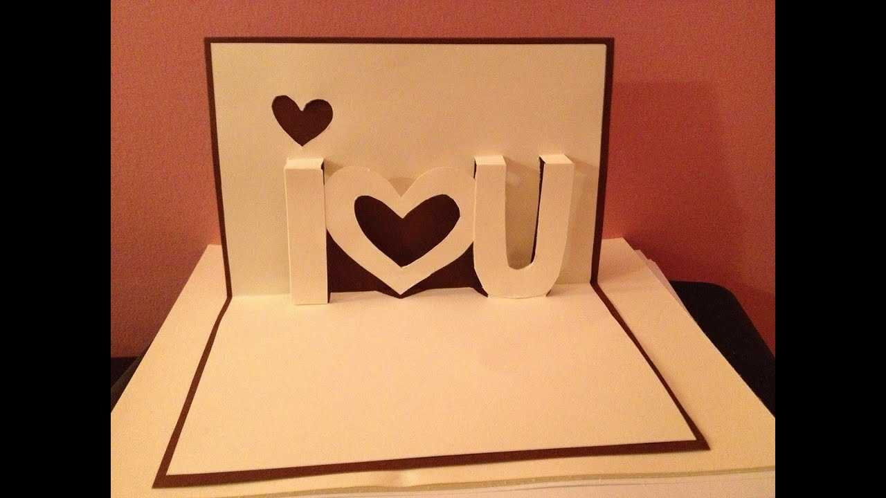 Pop Up Cards - I Love You Pop Up Card - Youtube Intended For I Love You Pop Up Card Template