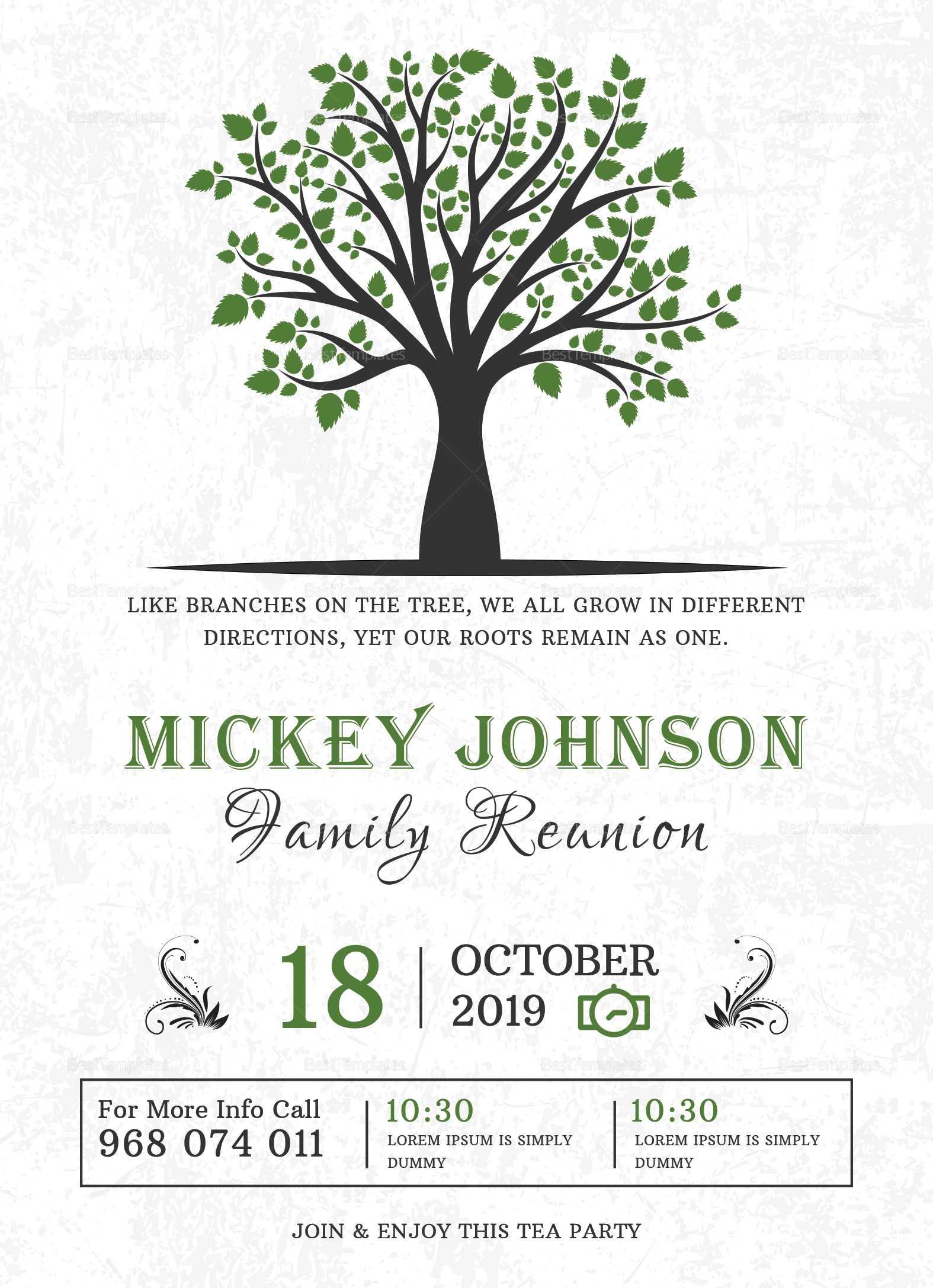 Printable Family Reunion Invitations - Falep.midnightpig.co Within Reunion Invitation Card Templates