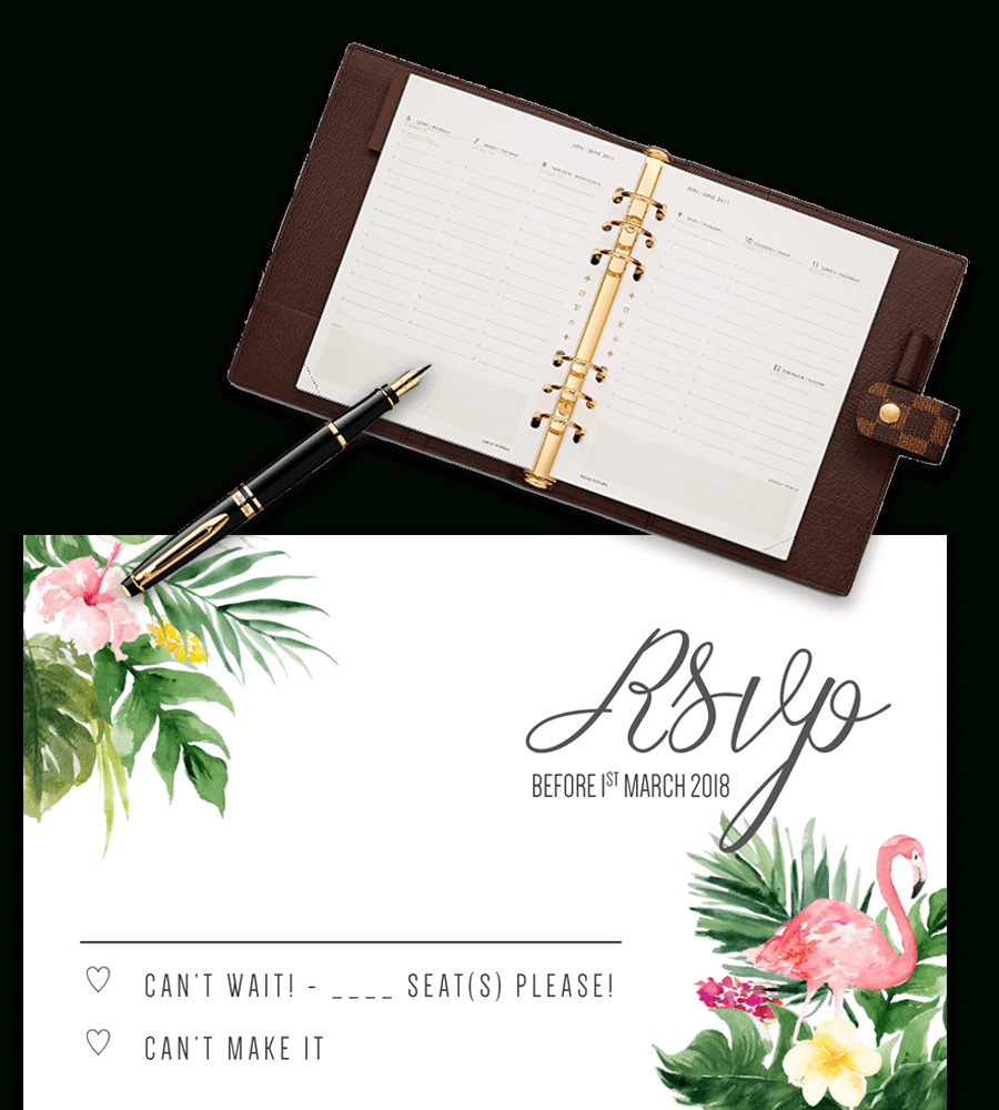 Printable Free Wedding Rsvp Template & Cards Microsoft Word With Regard To Acceptance Card Template
