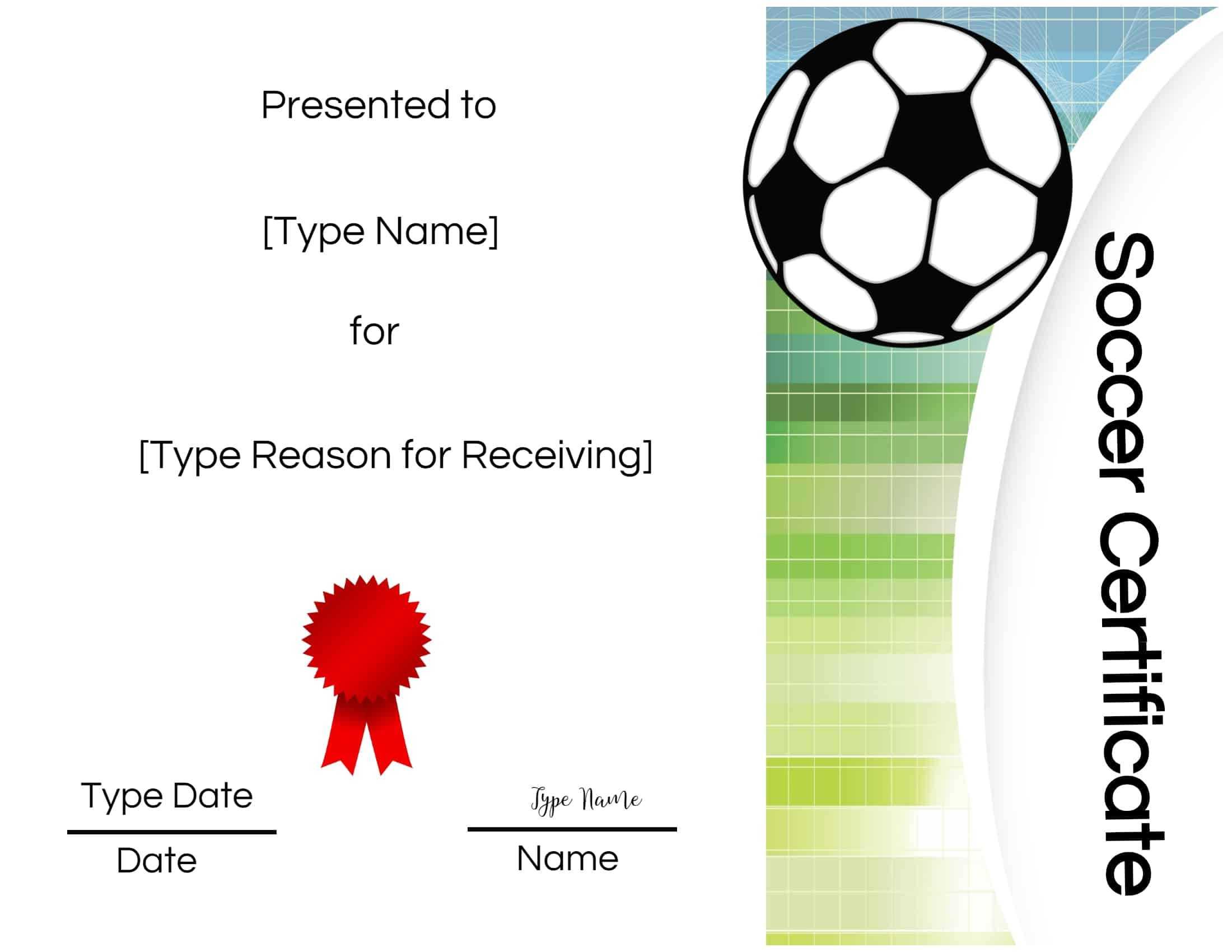 Printable Soccer Certificate - Dalep.midnightpig.co In Soccer Award Certificate Template