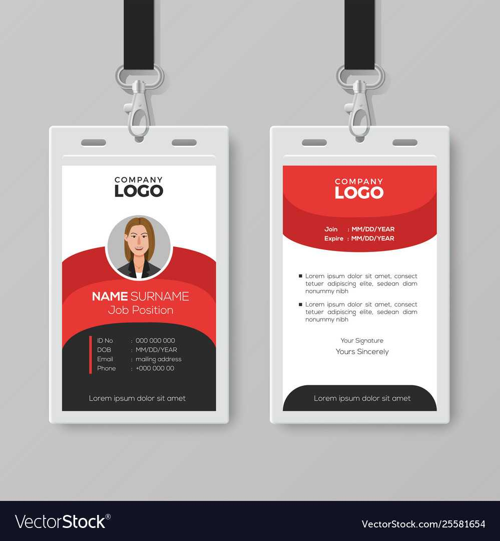 Professional Employee Id Card Template Throughout Work Id Card Template