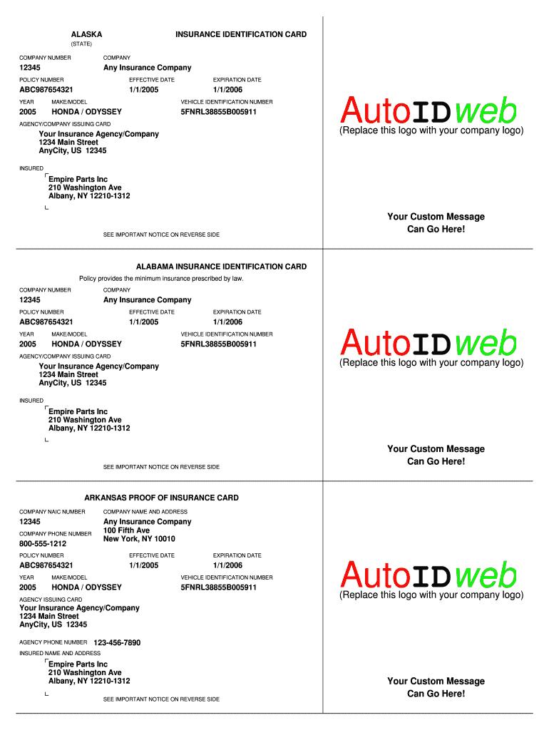 Progressive Insurance Card - Fill Online, Printable Regarding Auto Insurance Card Template Free Download